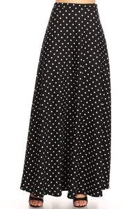 Polka Dot Maxi Ball Gown (BLK)