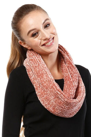 Plush Infinity Scarf- Coral
