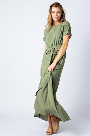 Endless Love Chiffon Maxi Dress (Olive)
