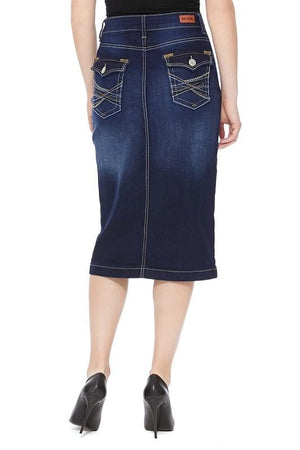 Kendall Dark Denim Skirt