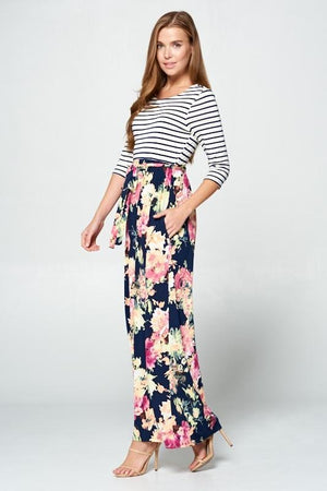 Classic Rose Maxi Dress (Watercolor)
