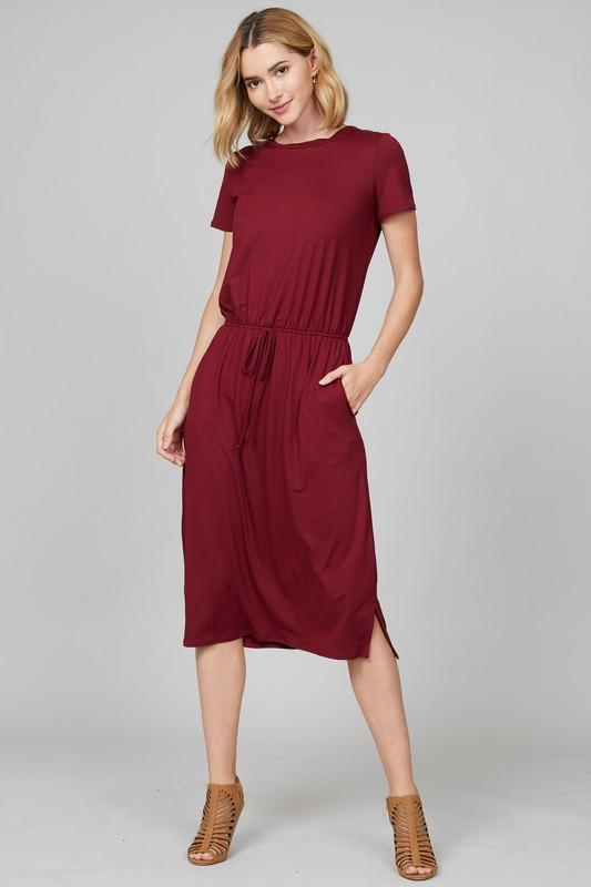 Live-in Lounge Dress (Burgundy)