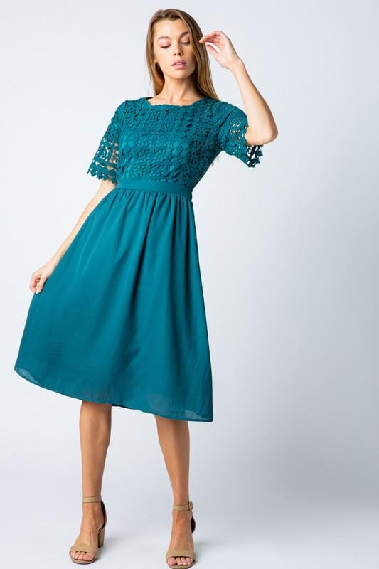 Julia Lace Dress (Teal)