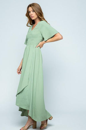 Emery Sage Chiffon Maxi Dress