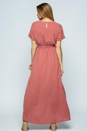 Endless Love Chiffon Maxi Dress (Dusty Rose)