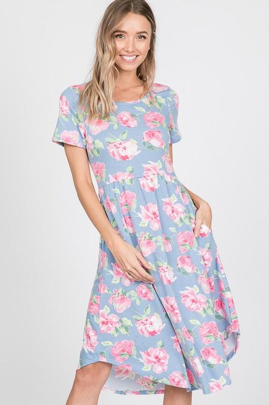 Vibrant Kind of Love Floral Midi Dress