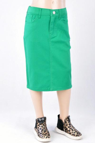 GIRLS Kelly Green Twill Skirt