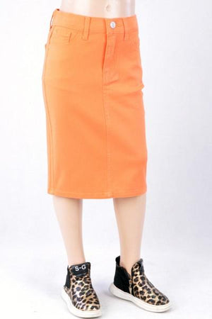 GIRLS Coral Twill Skirt