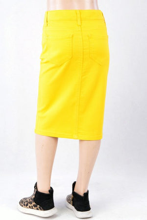 GIRLS Yellow Twill Skirt