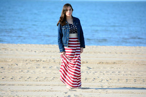 Old Glory Maxi Dress (Stars)