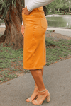JDA Mustard Denim Skirt