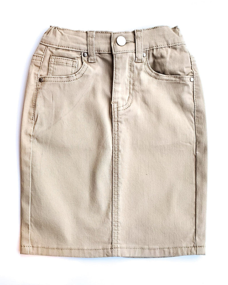 GIRLS JDA Lt. Khaki Denim Skirt