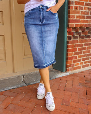 Remi Medium Wash Denim Skirt