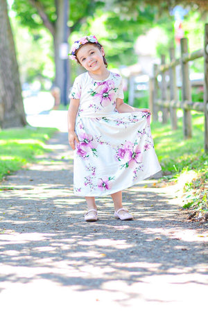GIRLS Lanai Floral Dress (Lavender)