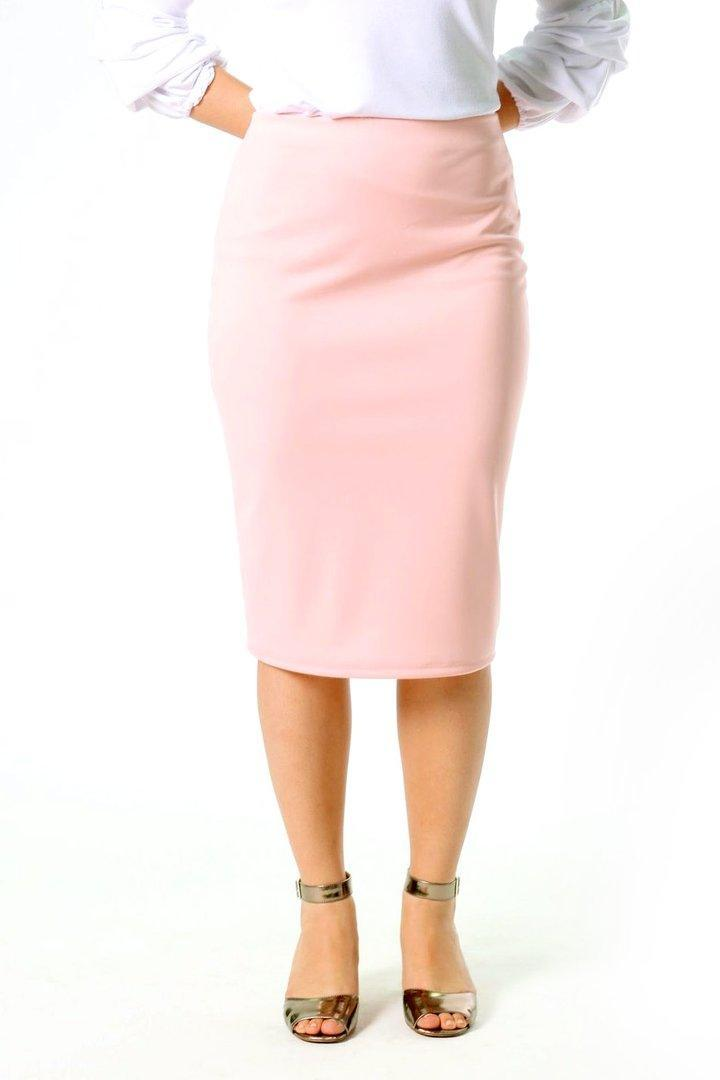 Riley Pencil Skirt in Blush