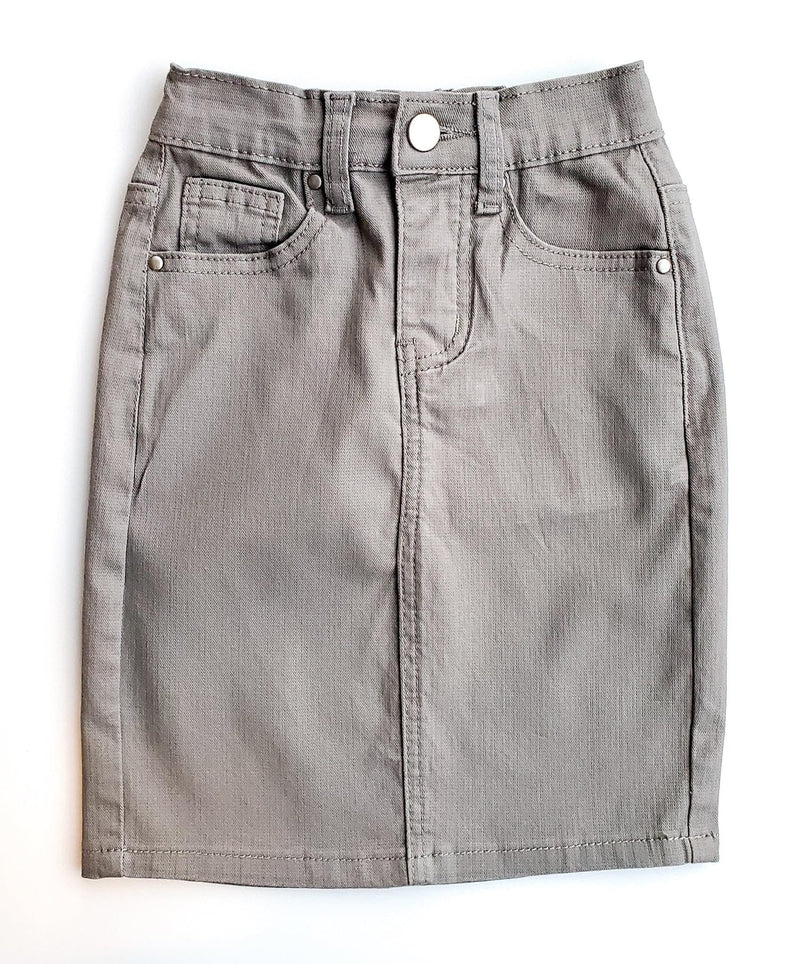 GIRLS JDA Heather Gray Denim Skirt