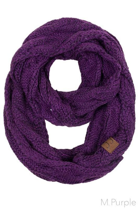 Infinity Scarf- Purple Sparkle
