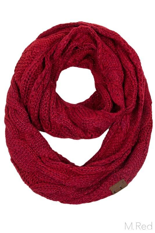 Infinity Scarf- Red Sparkle