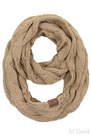 Infinity Scarf- Gold Sparkle