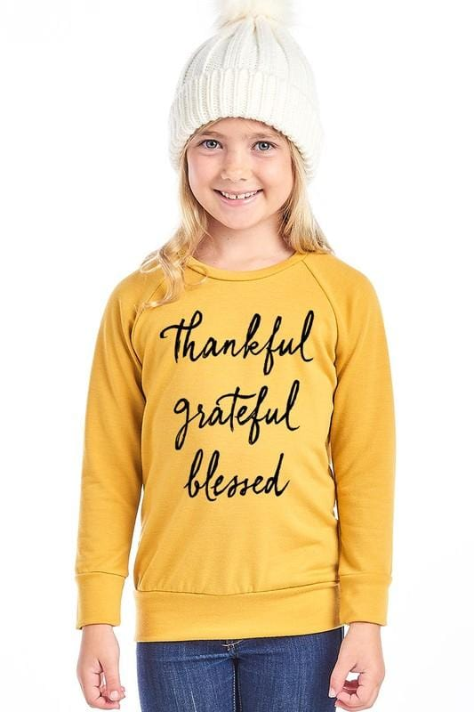 GIRLS Thankful Sweater (Mustard)