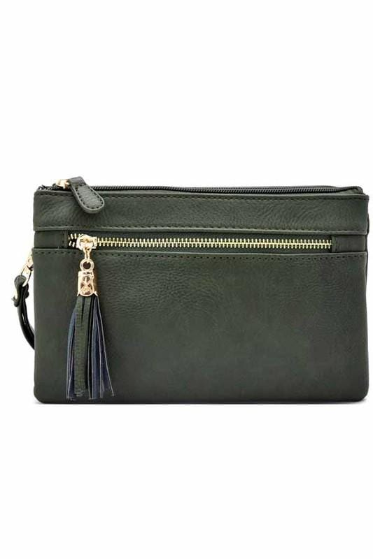 Bella Clutch Cross-body Bag-Olive