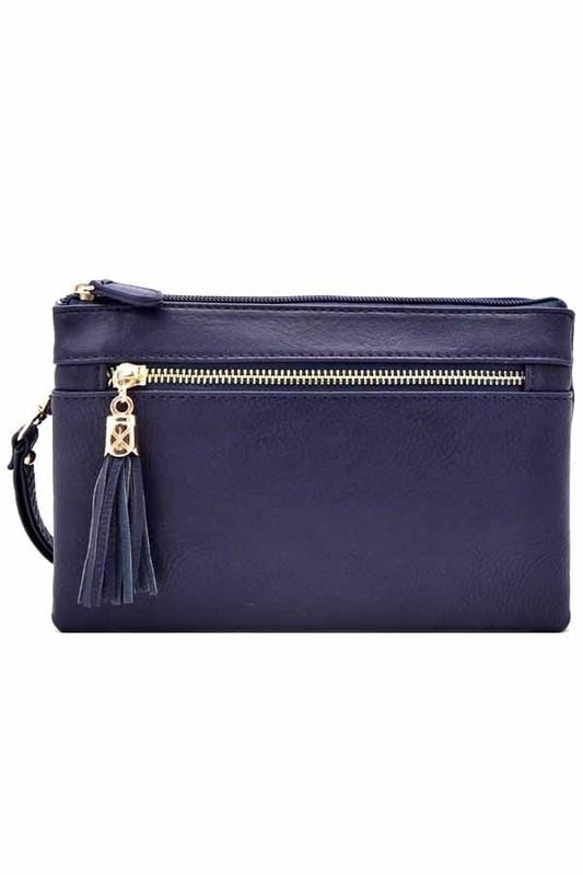 Bella Clutch Cross-body Bag-Navy