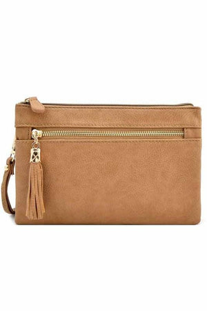 Bella Clutch Cross-body Bag-Taupe