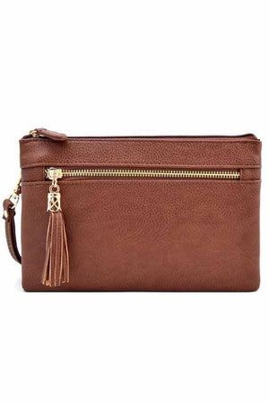 Bella Clutch Cross-body Bag-Brown