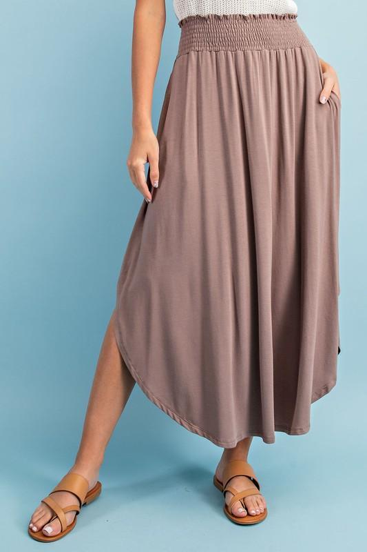 High-Rise Swing Maxi Skirt (Coco)