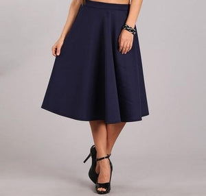 Navy Ball Gown Skirt
