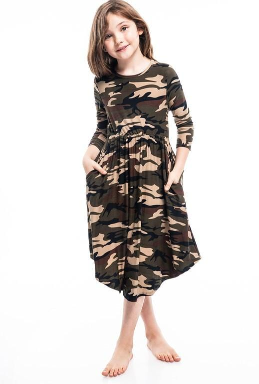 Girls Army Midi Dress