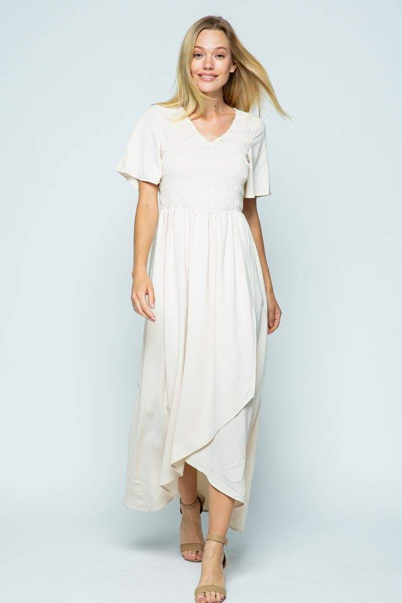 Emery Ivory Chiffon Maxi Dress