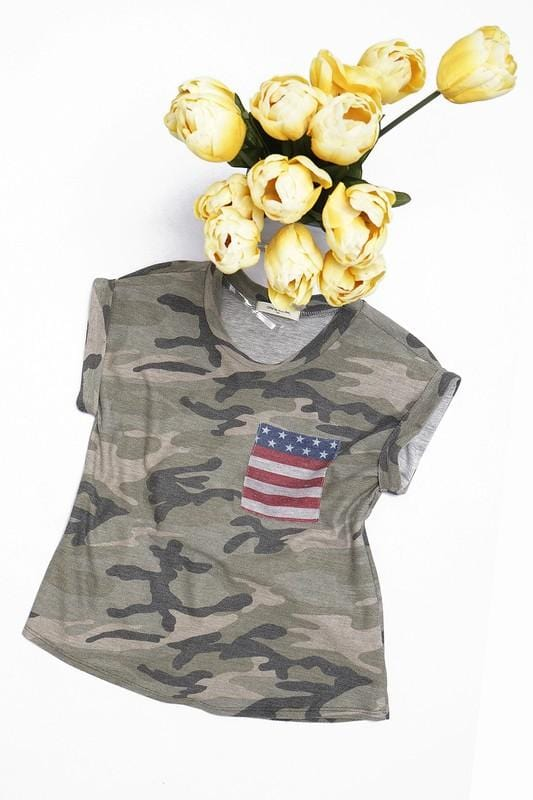 GIRLS Camo top