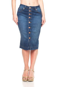 Lexi Denim Skirt-Indigo