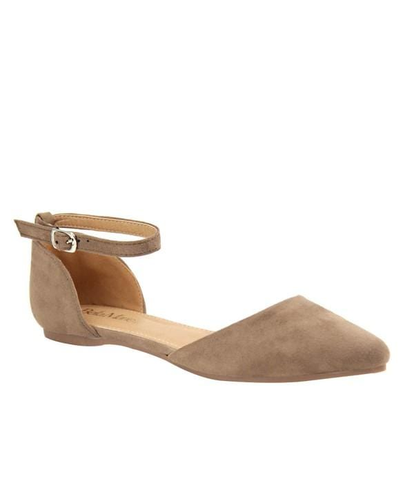 Taupe Suede Flats