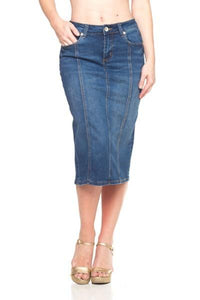 Panel Denim Skirt-LW