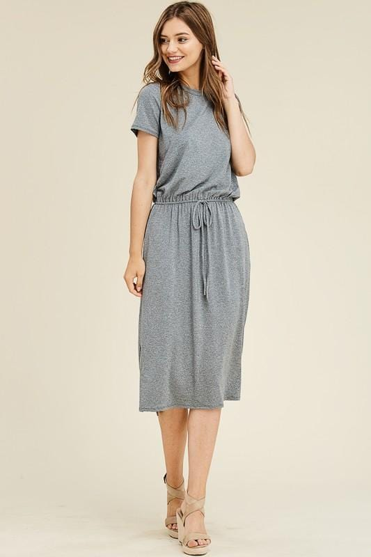 Live-in Two-tone Lounge Dress (Grey)
