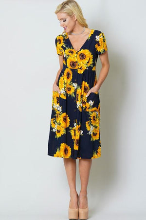 Ray of Sunflower Dress