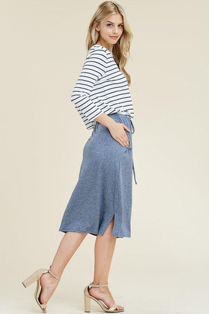 Two-tone Striped Lounge Dress (Blue)