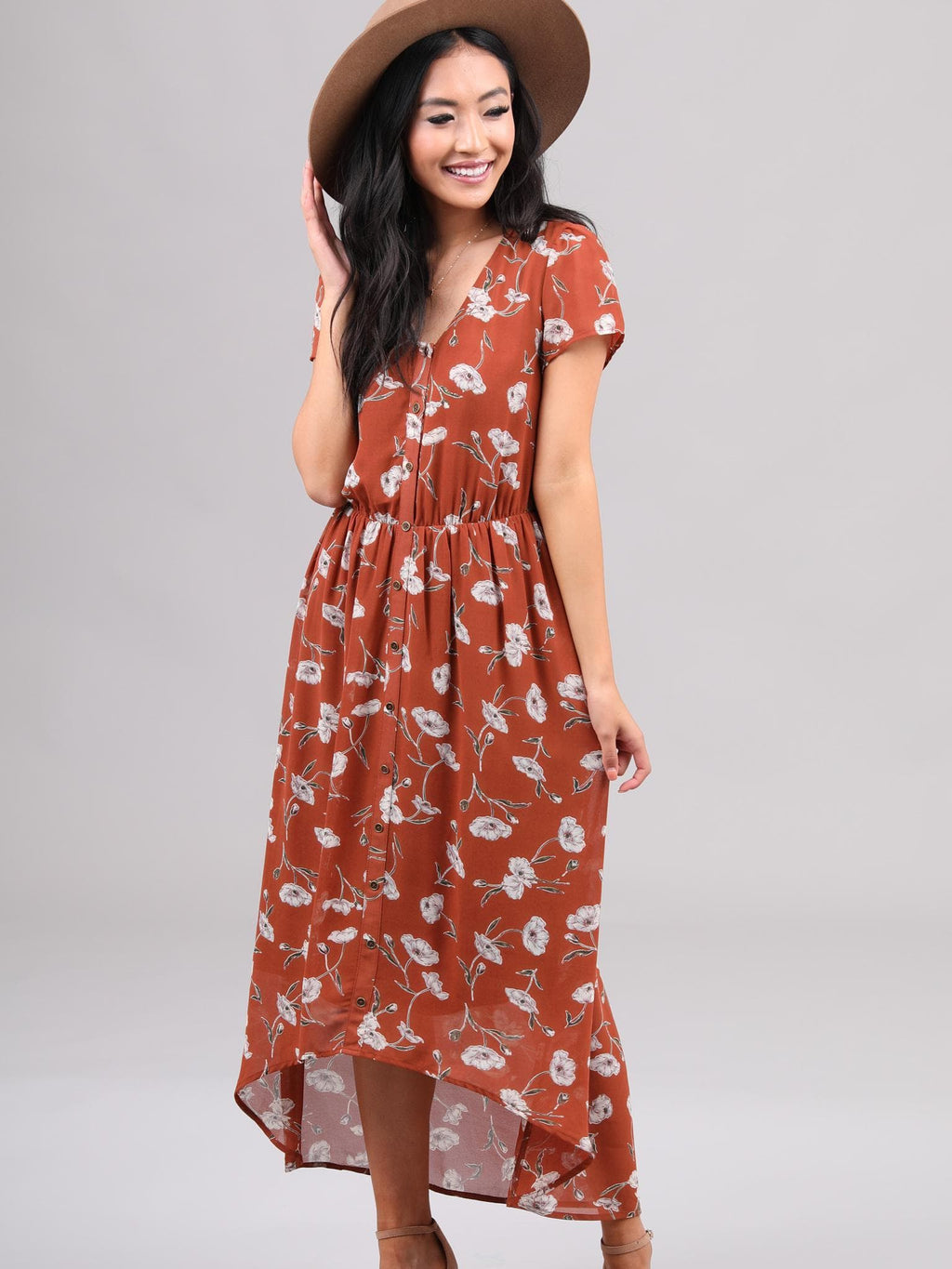 Rowan Cayenne Floral Dress