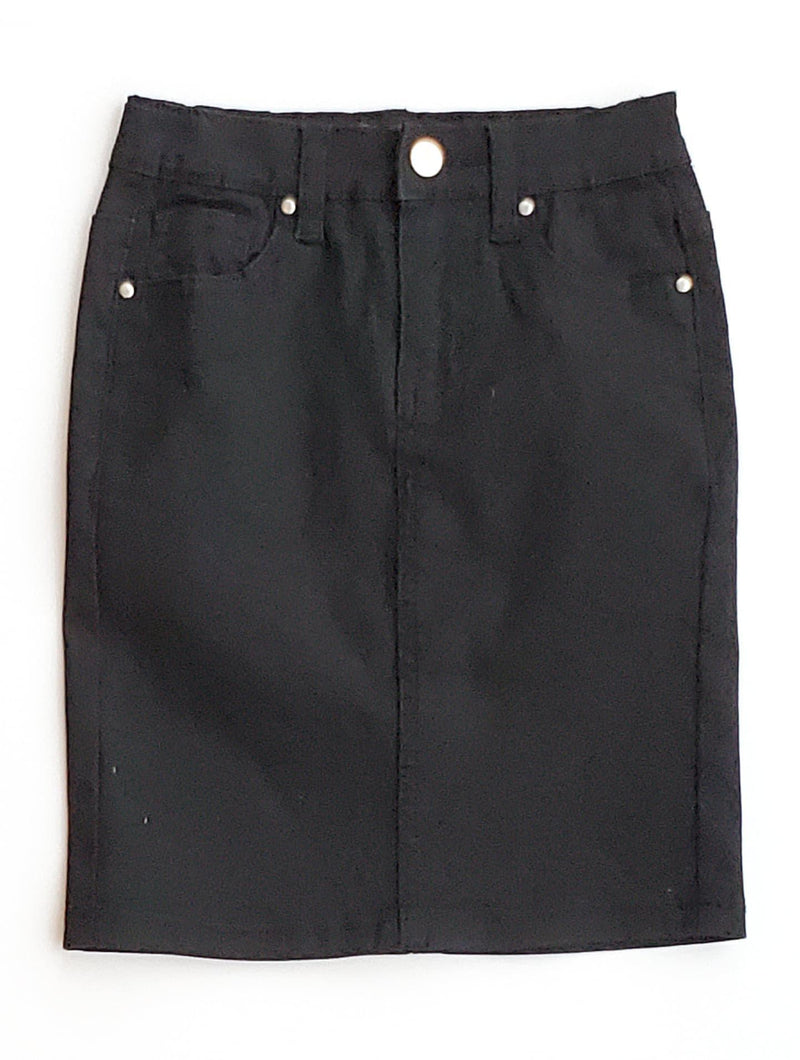 GIRLS JDA Black Denim Skirt