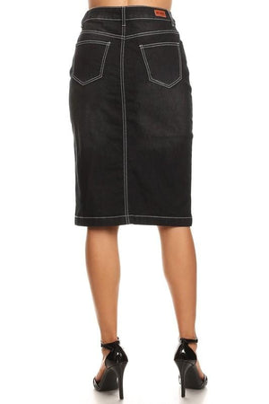 Ella Denim Skirt (BLK)