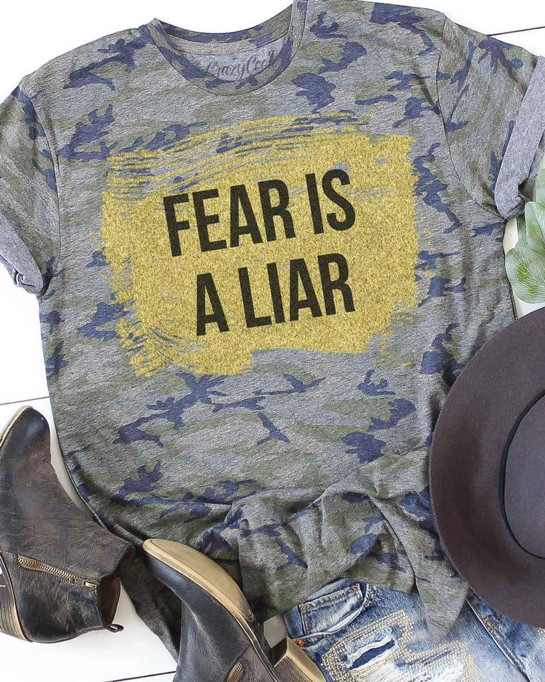 Fear is a Lair Camo Graphic Tee