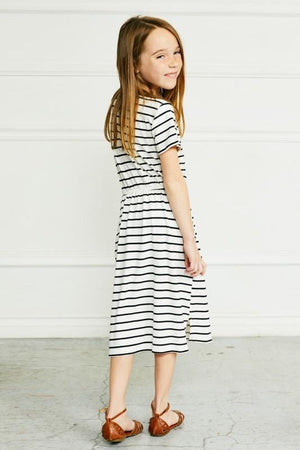 Striped Lounge Dress (White)