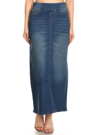 Classic Waistband Long Denim (Vintage)