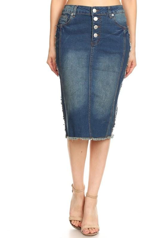 Heather Denim Skirt (Vintage)