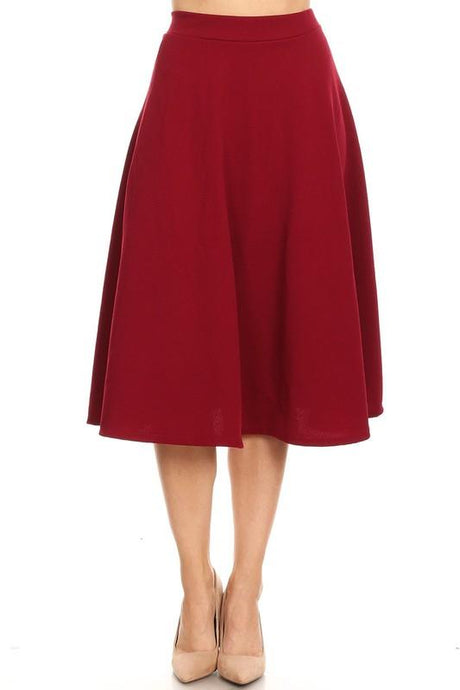 Burgundy Midi Ball Gown