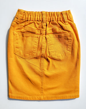 GIRLS JDA Mustard Denim Skirt