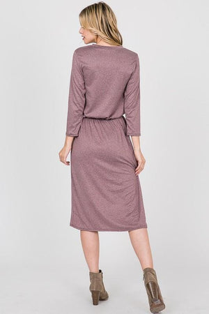 3/4 Two-tone Lounge Dress (Plum)