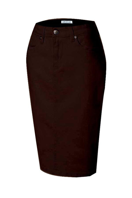 JDA Brown Denim Skirt